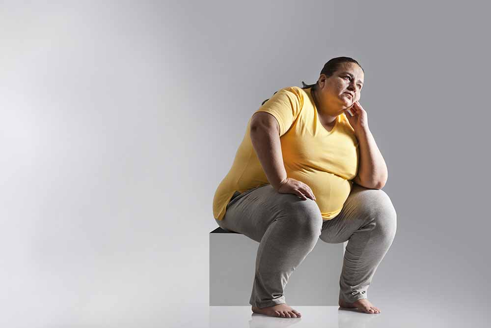 Obesity and the condition of human spine