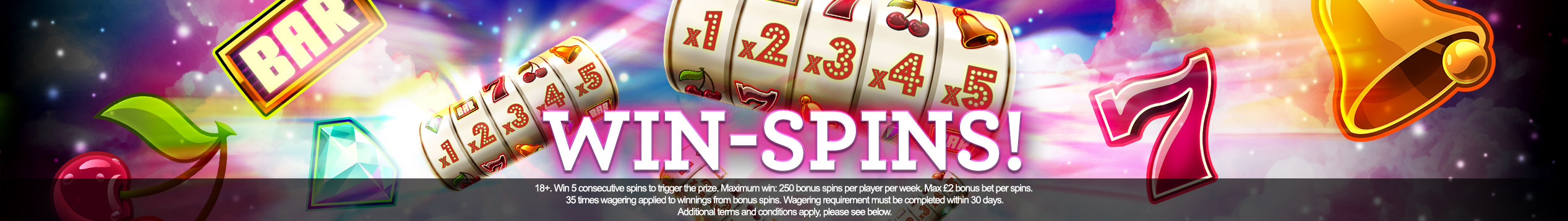 250 free spins every week