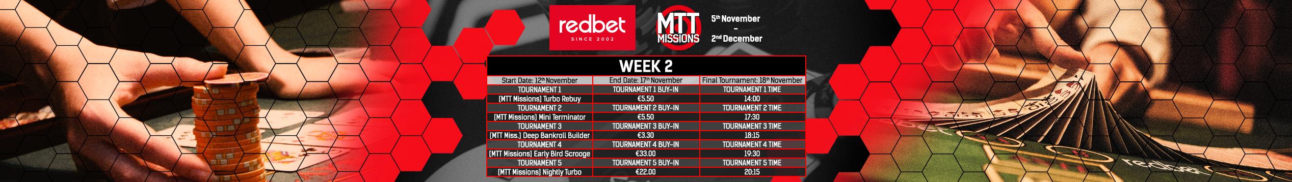 redbet MTT Missions