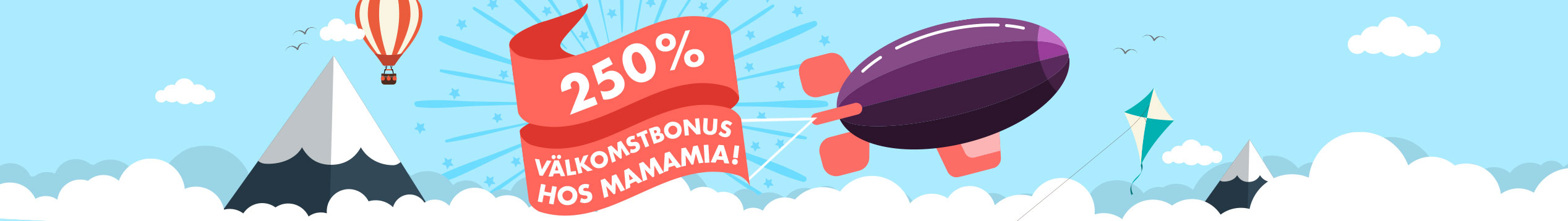 MamaMia bjuder på upp till 500 kr i bonus!