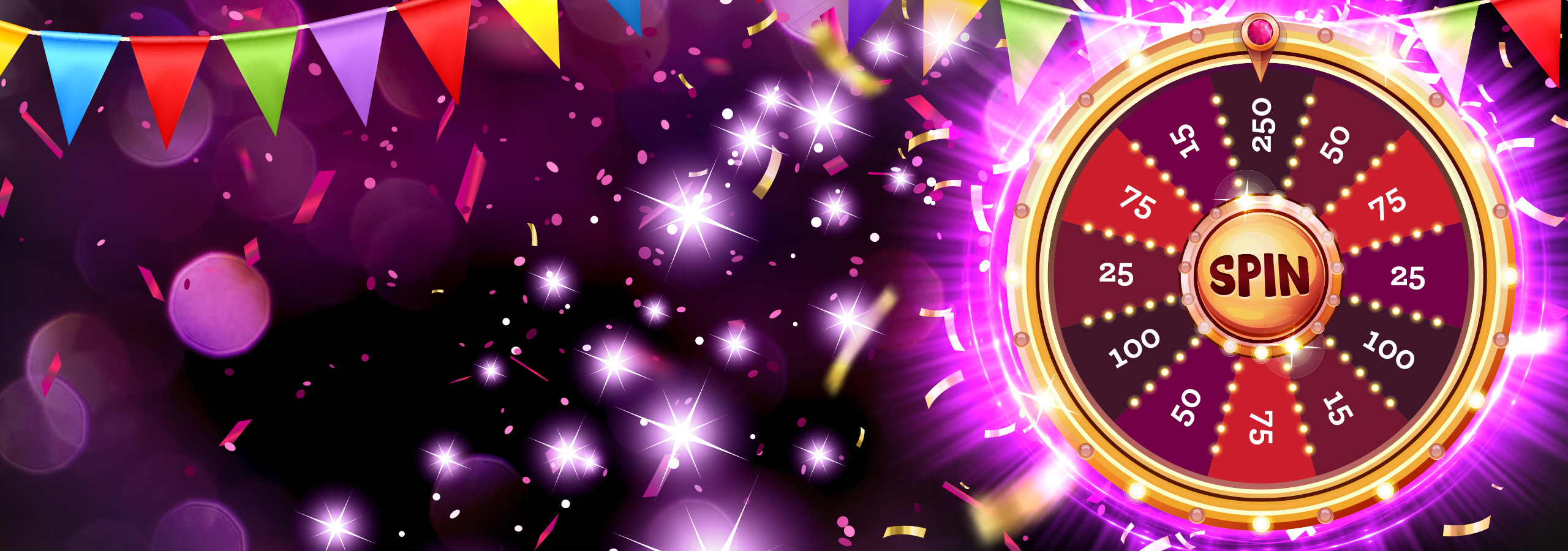 **100% BONUS UP TO £200**  **ALSO**  **SPIN THE WHEEL GRAB THE FORTUNE!** (Up to 250 extra spins)