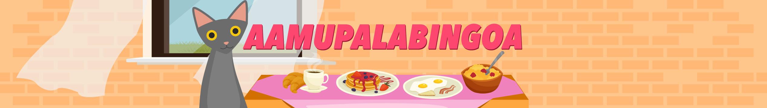 Pelaile aamupalabingoa lauantai ja sunnuntai klo 9-11.