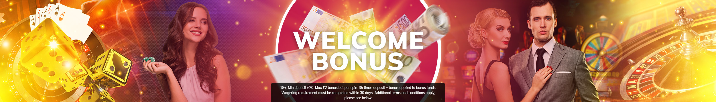 Grab your welcome bonus