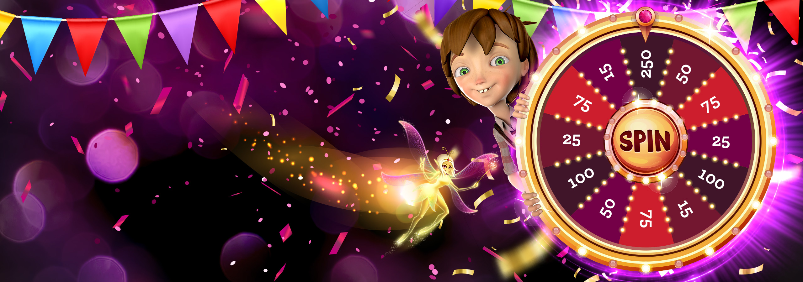 **100% UP TO €100** **ALSO** **SPIN THE WHEEL GRAB THE FORTUNE!** (Up to 250 extra spins)