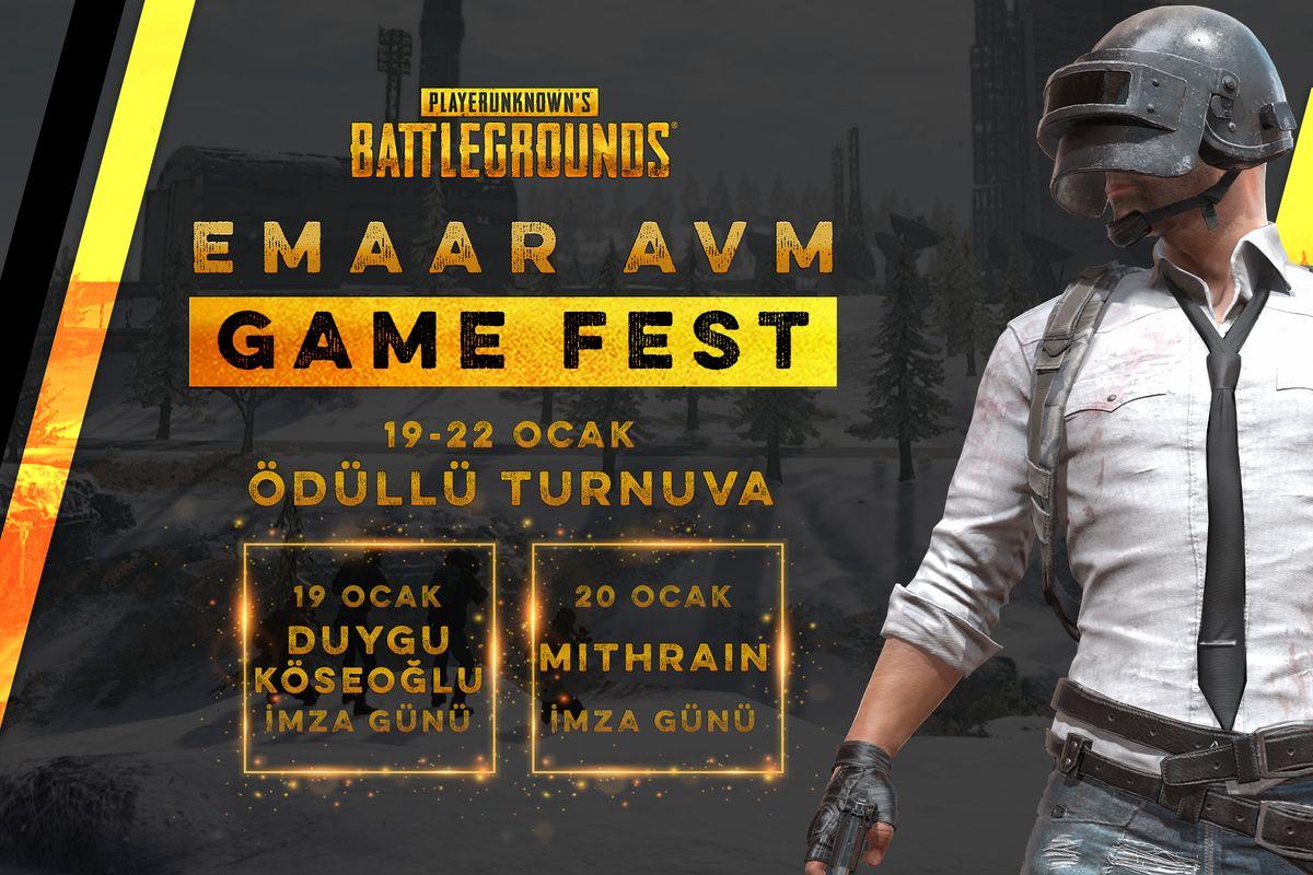 Emaar AVM Game Fest 19 Ocak'ta Başlıyor!