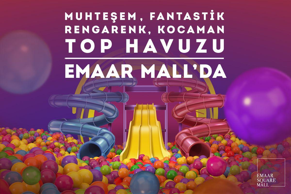 Musteşem, Fantastik, Dev Top Havuzu Emaar Mall'da !