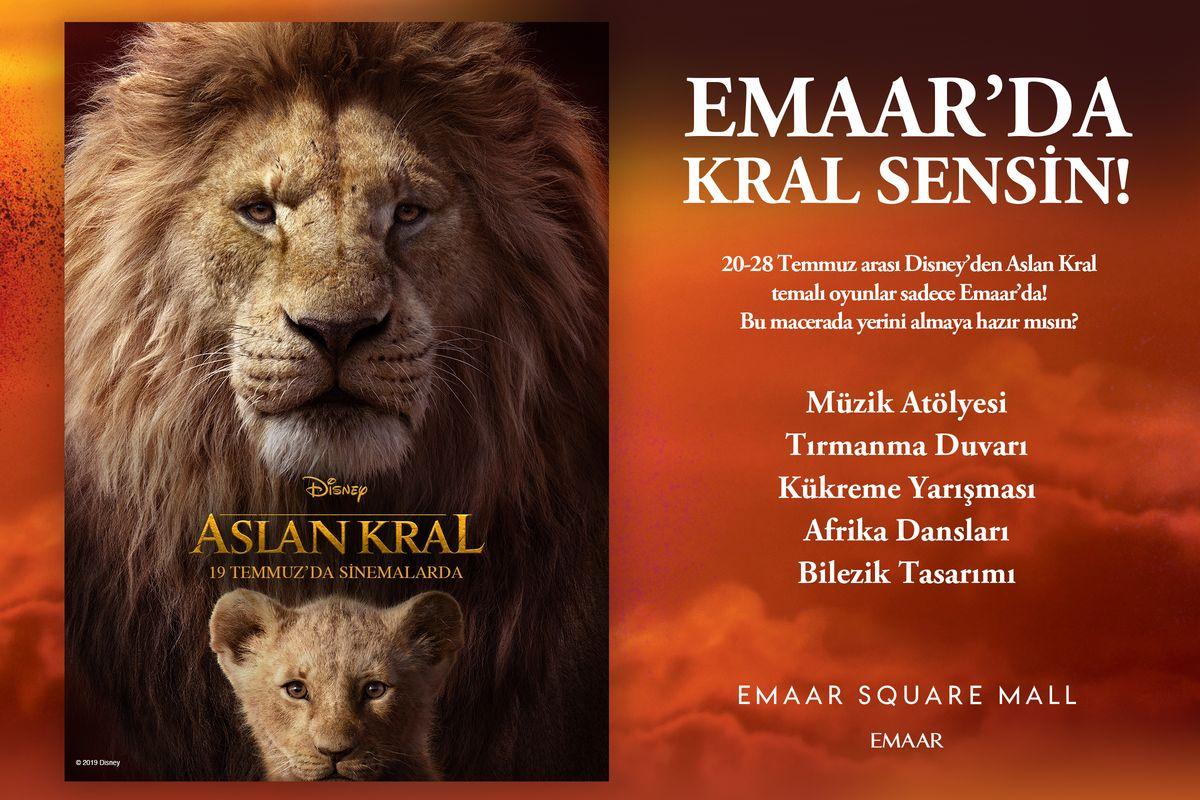 Aslan Kral Emaar'da!