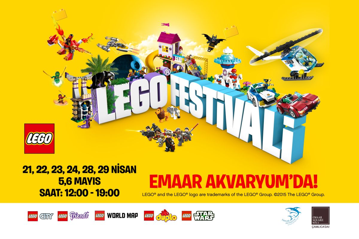Emaar Akvaryum'da Lego Festivali!