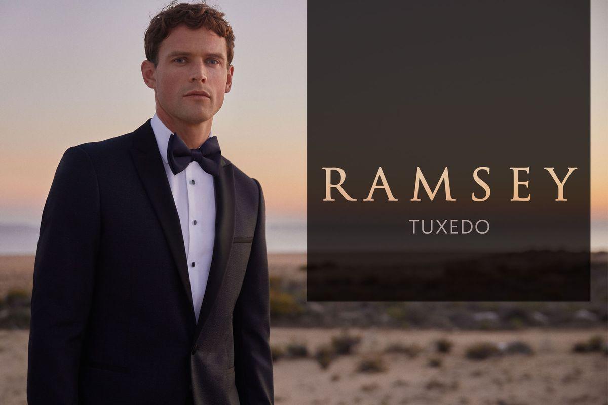 Ramsey yeni sezon Tuxedo koleksiyonu ile erkekler bahar düğünlerinde çok şık görünecek.
