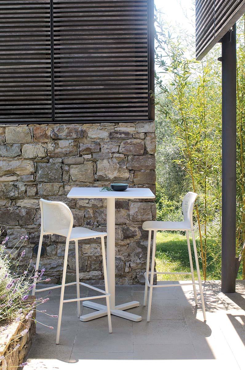 Tavolo Quadrato 70x70 Da Giardino Esterno In Acciaio Collezione Darwin Emu