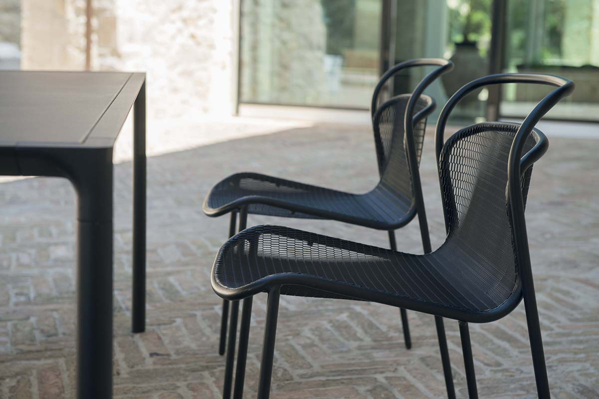 Sgabello da giardino esterno in acciaio collezione modern emu