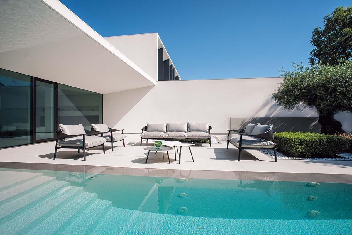 Lettino impilabile da giardino esterno in alluminio e for Lettino allungabile