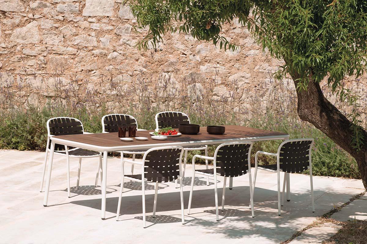 Emu Piano Tavolo Allungabile.Tavolo Allungabile Con Piano In Alluminio Da Giardino Esterno In