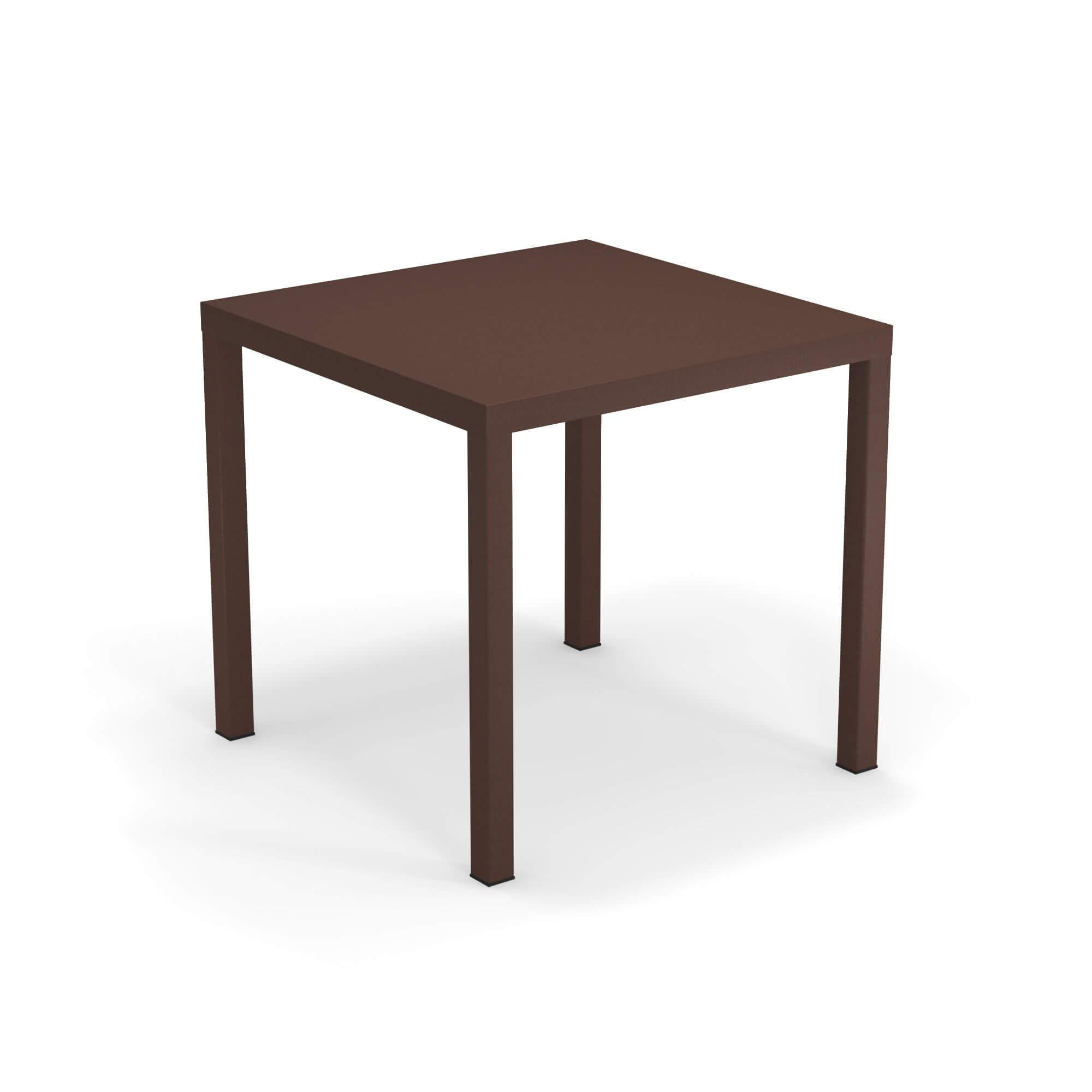 Tavolo quadrato 80x80 da giardino esterno in acciaio for Tavolo quadrato