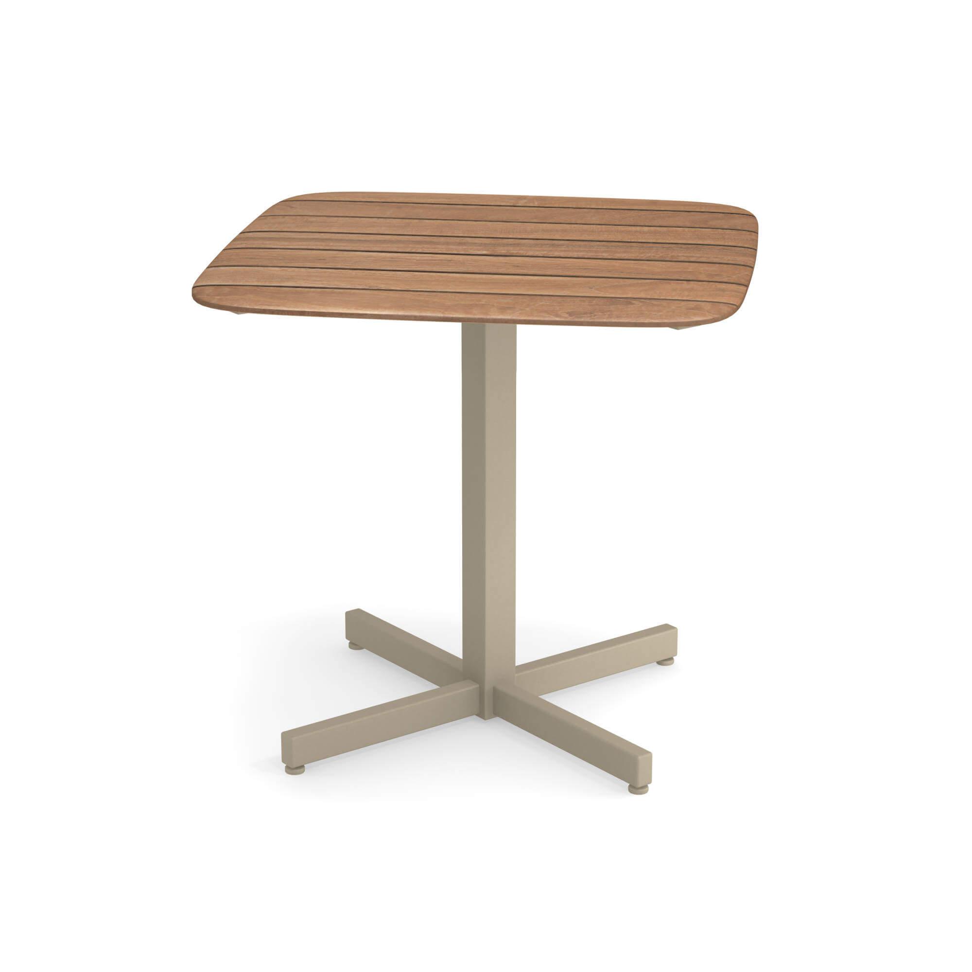 Emu Piano Tavolo Allungabile.Tavolo Quadrato Piano In Teak 79x79 Da Giardino Esterno In