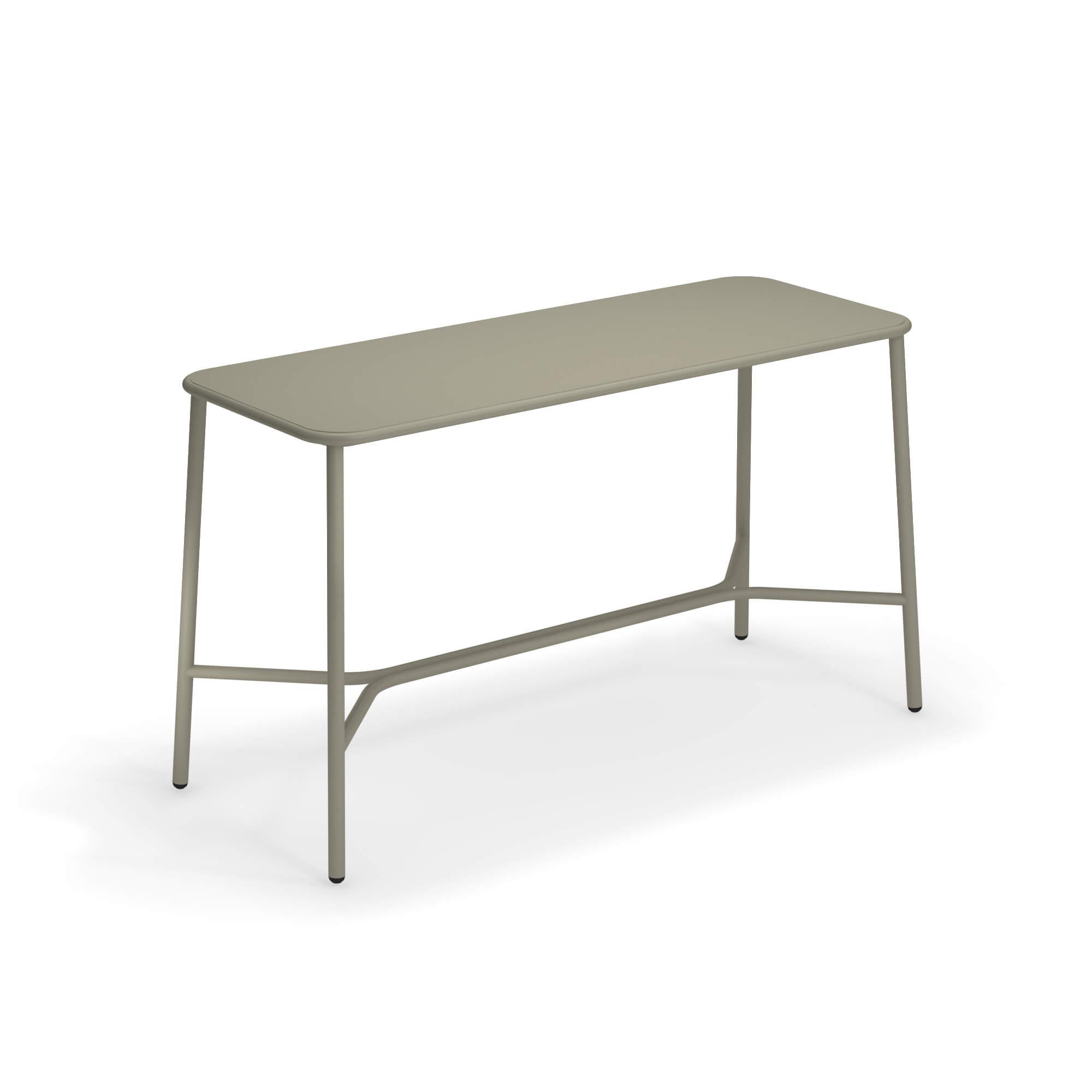 Emu Piano Tavolo Allungabile.Tavolo Alto Con Piano In Alluminio 180x70 Da Giardino Esterno In