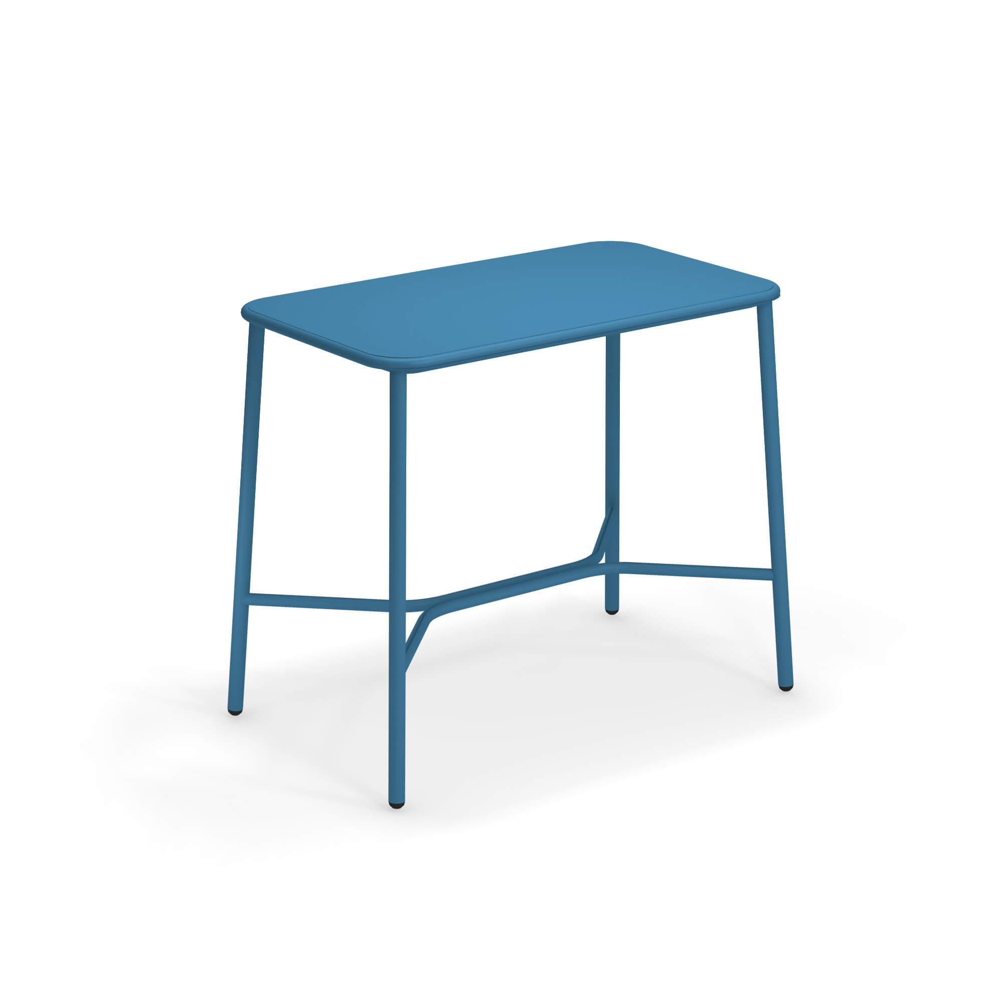 Tavolo Da Giardino 120 X 70.Tavolo Alto Con Piano In Alluminio 120x70 Da Giardino Esterno In