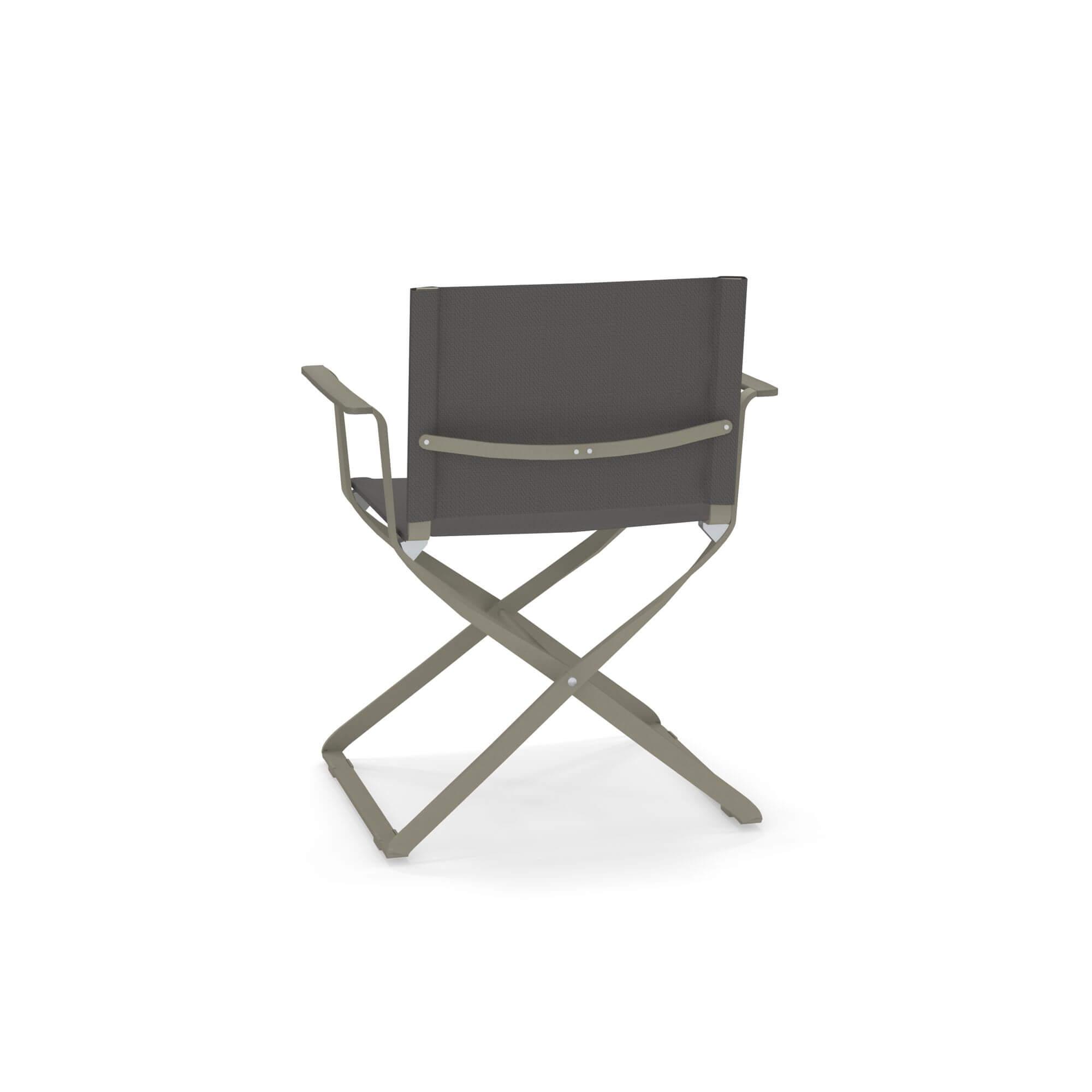 Sedia regista da giardino esterno in alluminio e emu tex for Sedia design regista