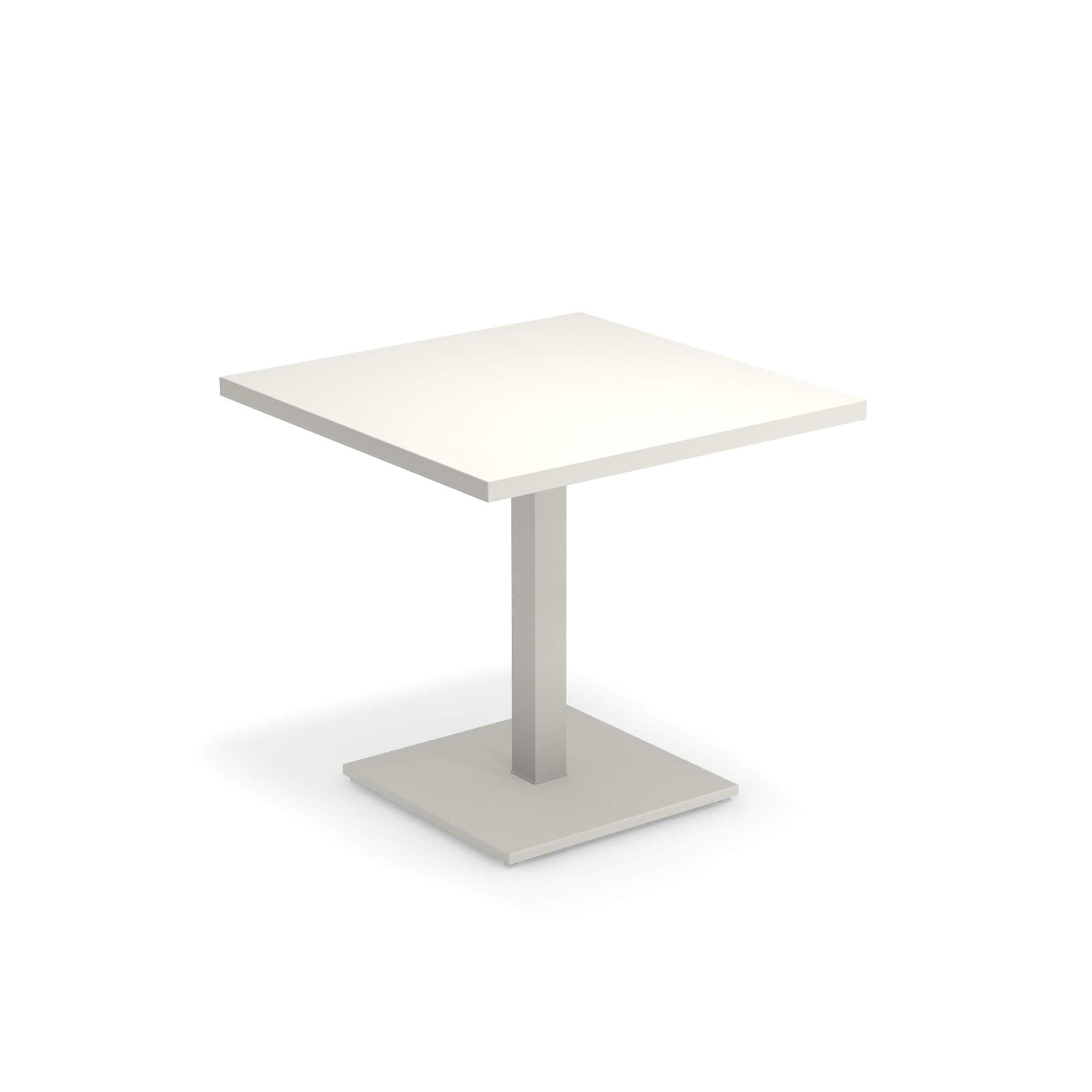 Round Tavolo Allungabile Emu.Tavolo Quadrato 80x80 Da Giardino Esterno In Acciaio