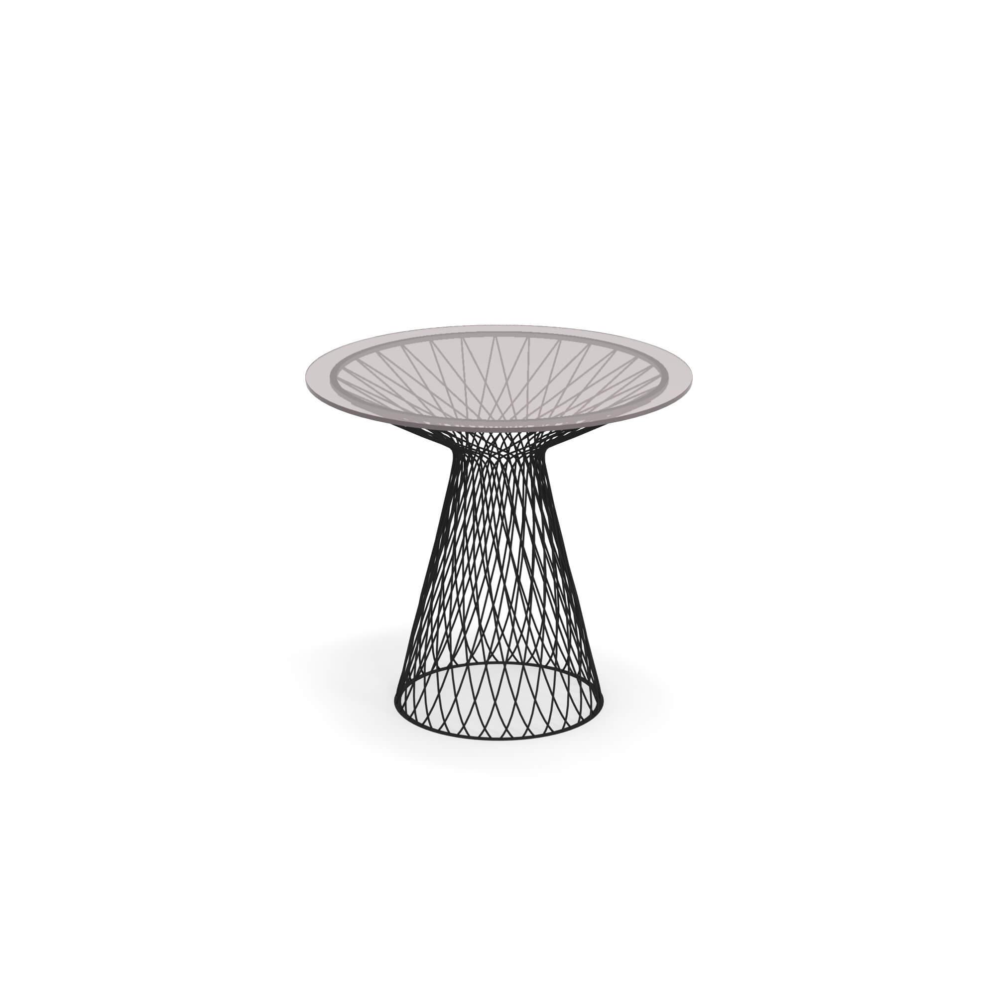 Tavolo Tondo Con Piano In Cristallo Ø80 da giardino / esterno in ...