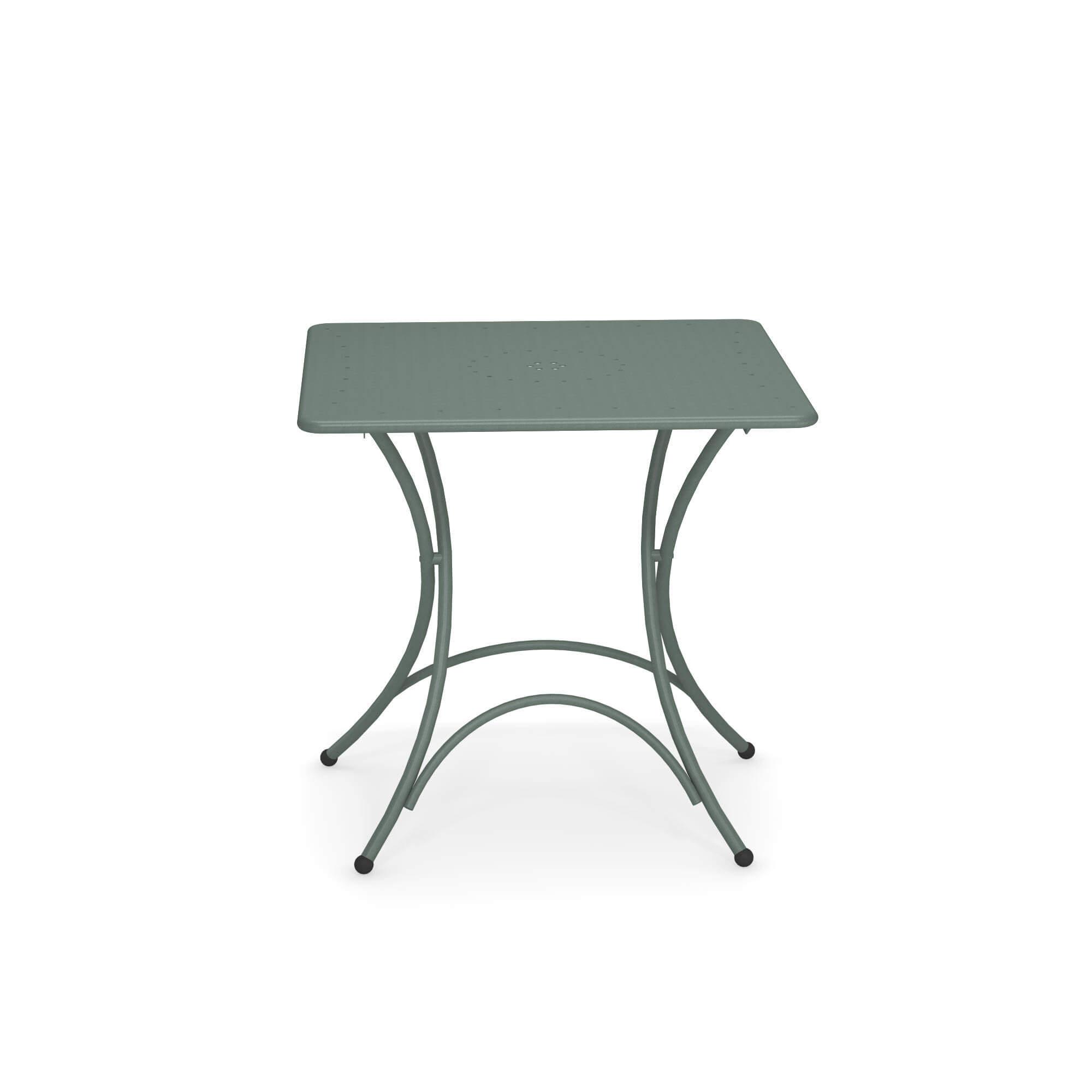 Tavolo quadrato pieghevole 76x76 da giardino esterno in for Tavolo pieghevole design