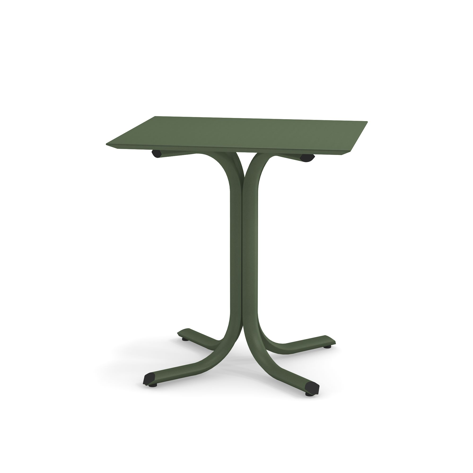 Tavolo Bordo Basso 70X60 da giardino / esterno in acciaio ...