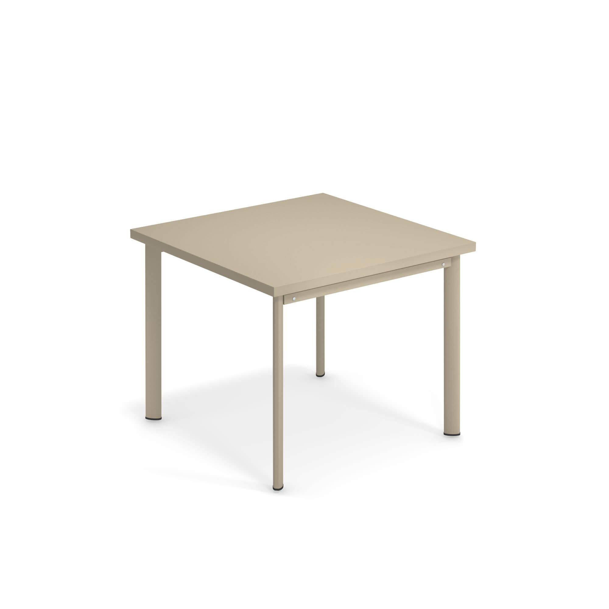 Tavoli Da Giardino Emu.Tavolo Quadrato 90x90 Da Giardino Esterno In Acciaio
