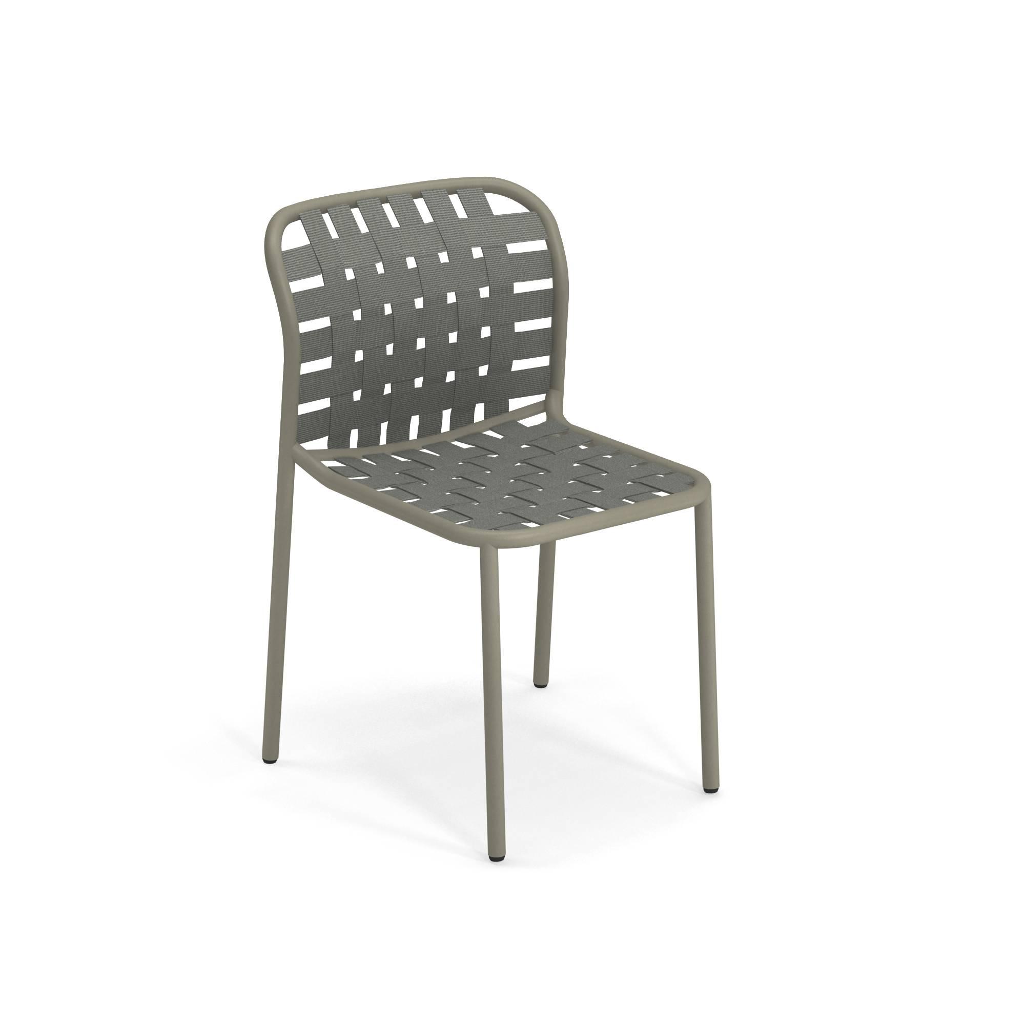 Emu Sedie Da Giardino.Sedia Da Giardino Esterno In Alluminio E Cinghie Elastiche
