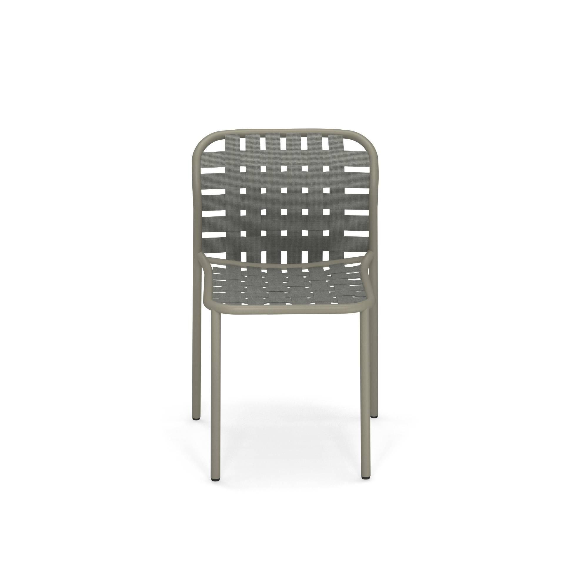 Sedia Da Giardino Esterno In Alluminio E Cinghie Elastiche Collezione Yard Emu