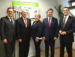 v.l.n.r: Frank Rottenbacher, Burkhard Baye, Renate Kewenig, Günther Eisend, Norman Wirth