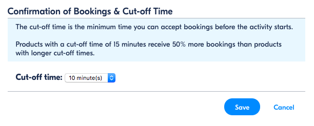 What is the cut-off time? How do I change the cut-off times of my