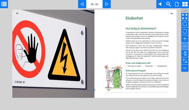 Exempel på uppslag Onlinebok skärmdump