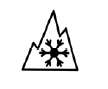 Bild på bergstopp och snöflinga