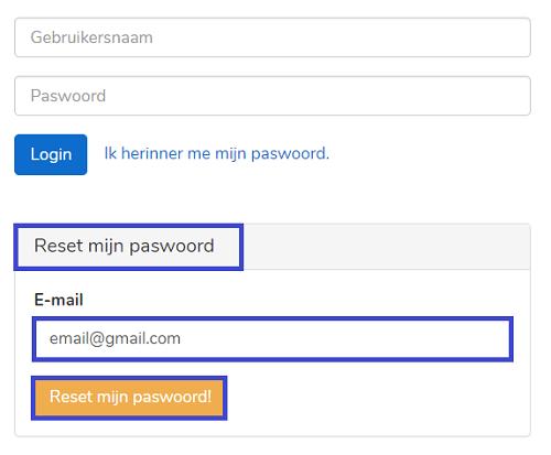 mycodabox paswoord reset valideren