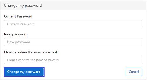 Confirm new CodaBox password