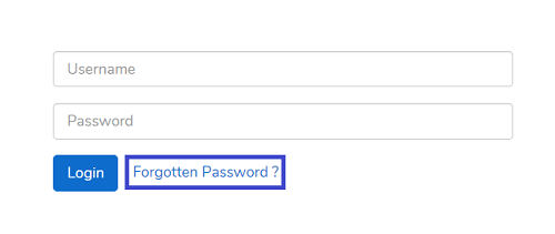 Reset CodaBox password