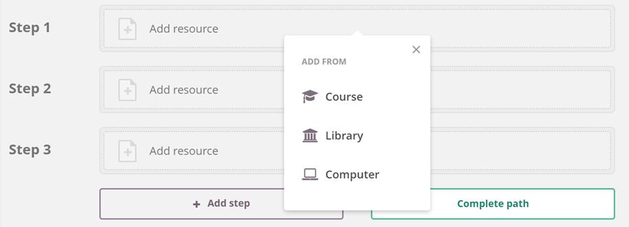 screenshot adding resources