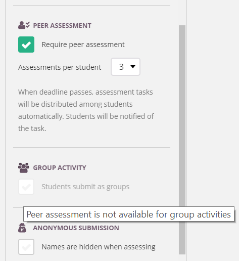 screenshot peer assessment