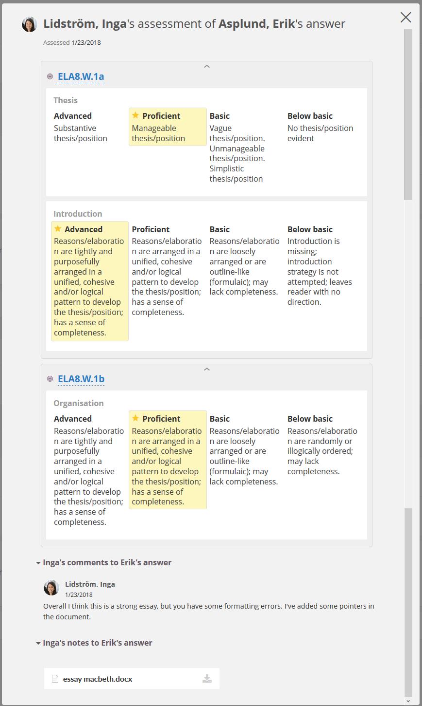 Peer Assessment  Itslearning Help Center The Peer Assessment Will Open In A Dialog