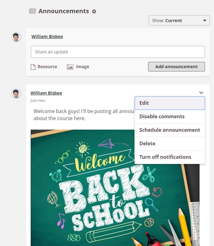 screenshot announcements