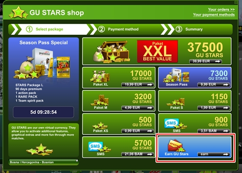 How to earn STARS picture