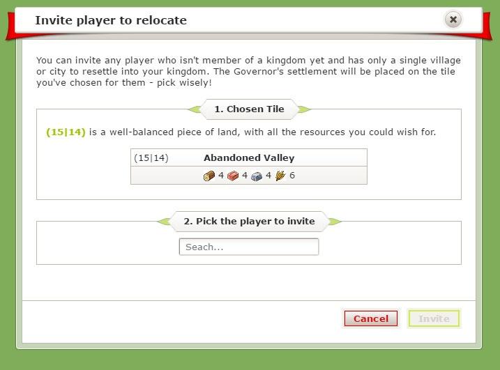 Invite player to relocate window