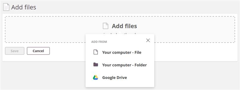 Image for Adding files in Assignments
