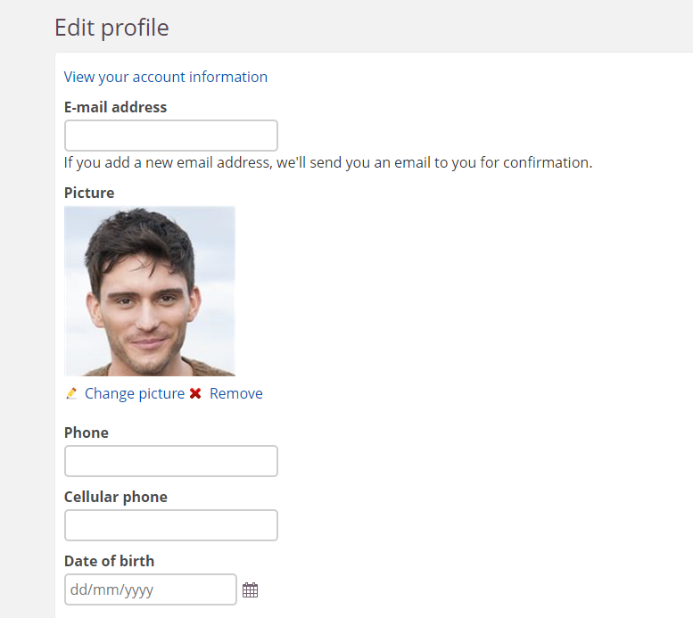 screenshot edit profile