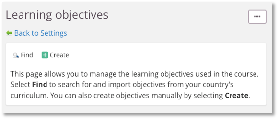 screenshot find learning objectives
