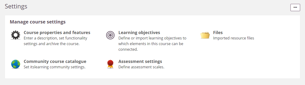 screenshot course settings