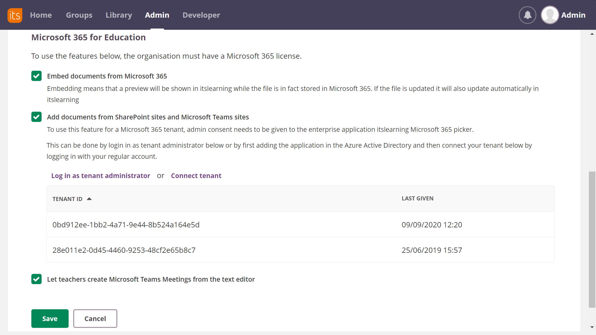 screenshot cloud service for MS 365 for education