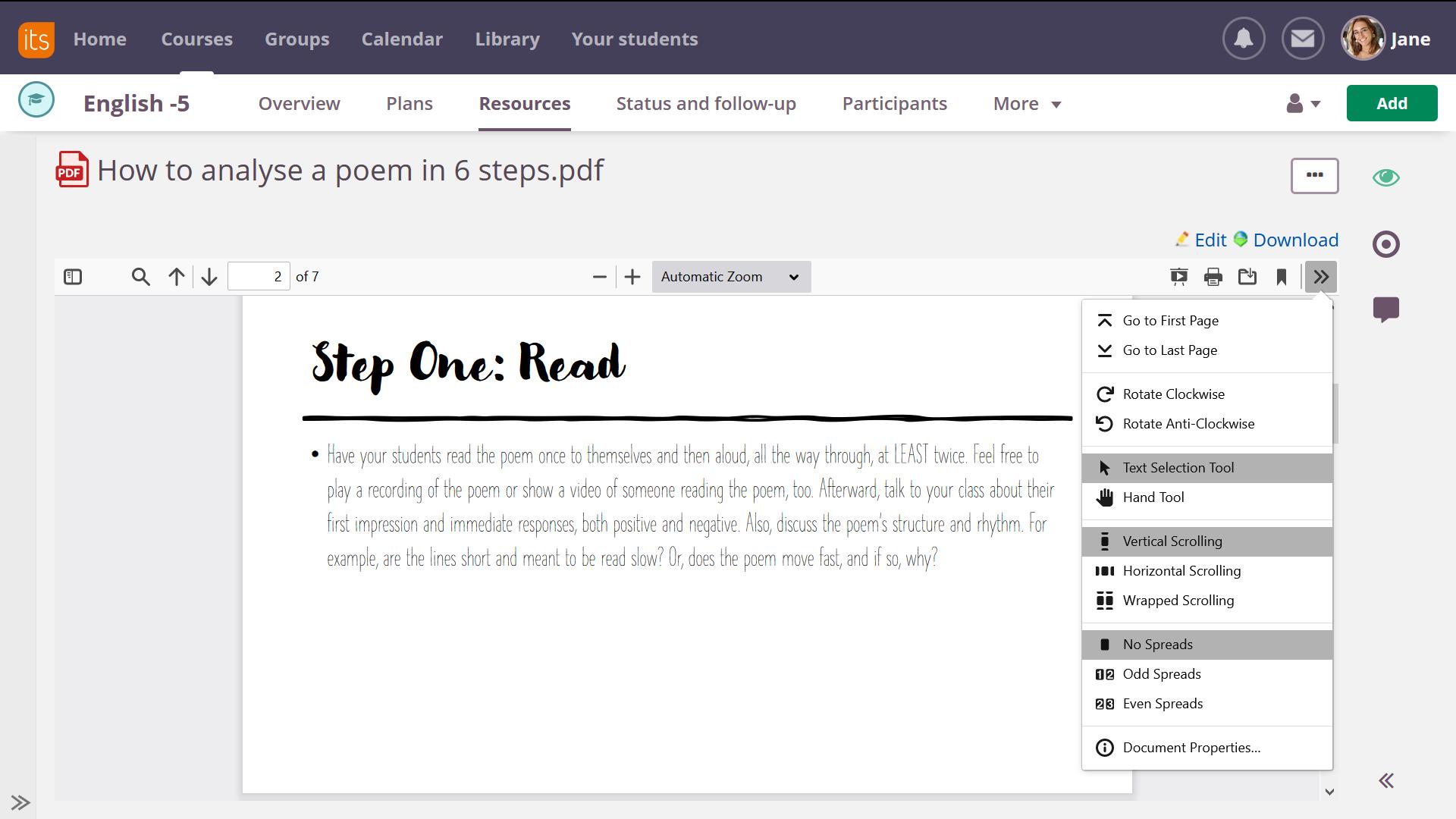 screenshot PDF view upgrade