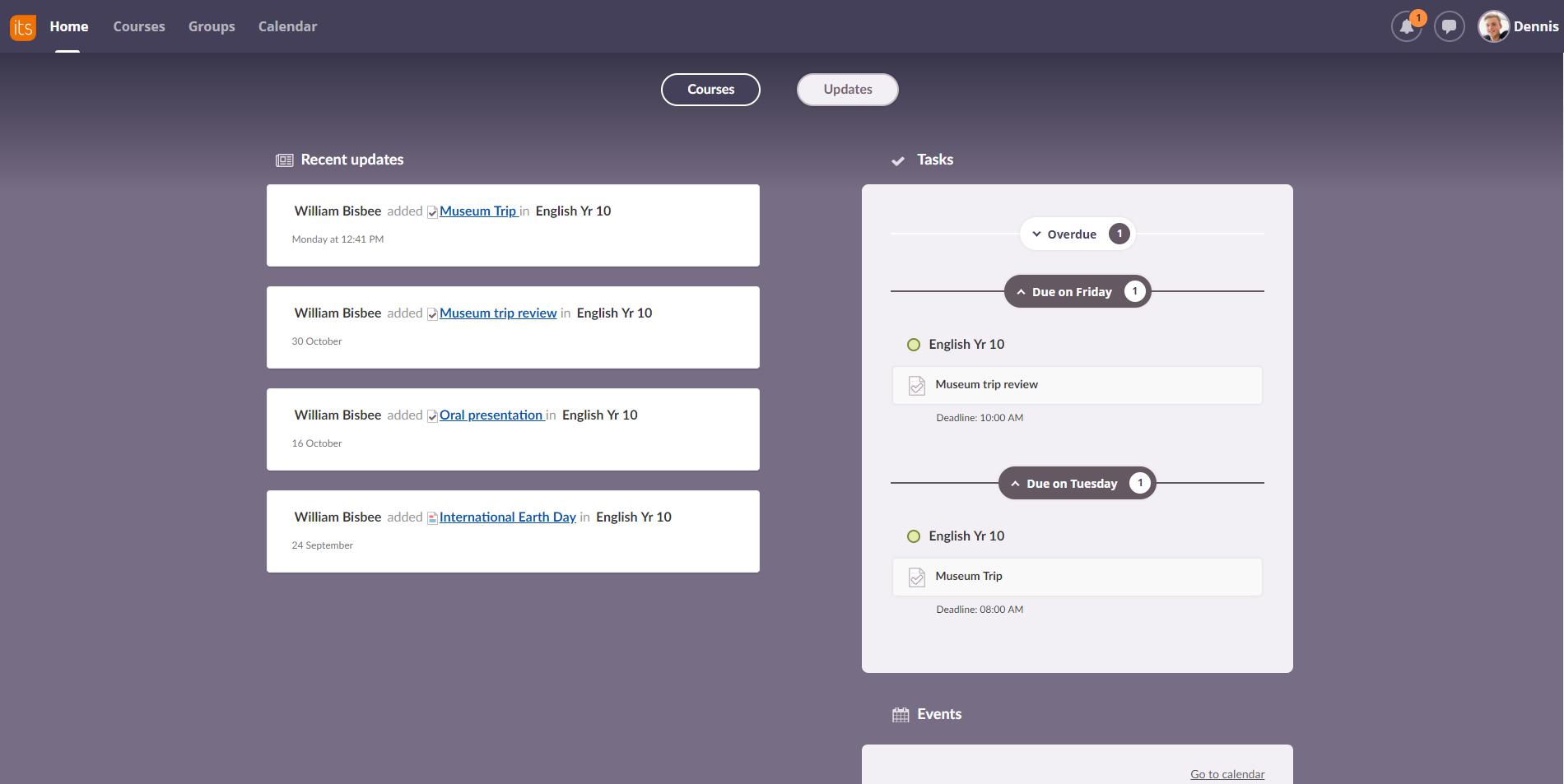 screenshot updates tasklist