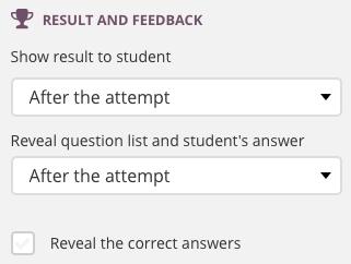 results and feedback screenshot